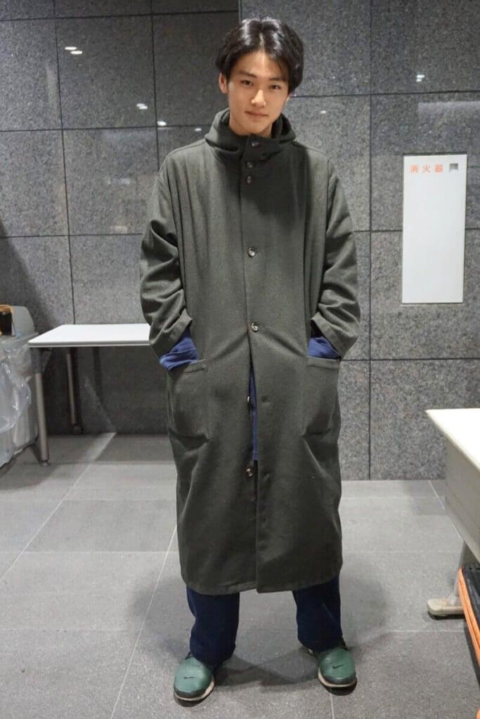 沖縄育ちには寒さが堪え、コートを緊急ゲットしました。