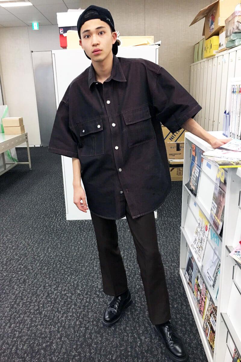 ビッグすぎる古着シャツで、次号のメンズノンノに載ります!