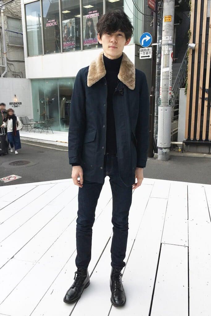 イタリア発の新進アウターブランド「ミダ」の一着です