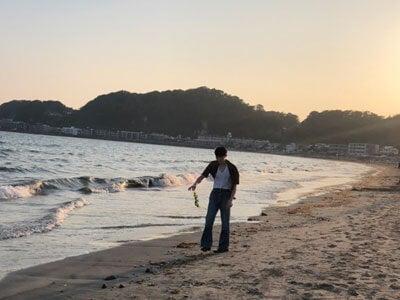 久しぶりに由比ヶ浜まで行ってきました。空がきれいだった!