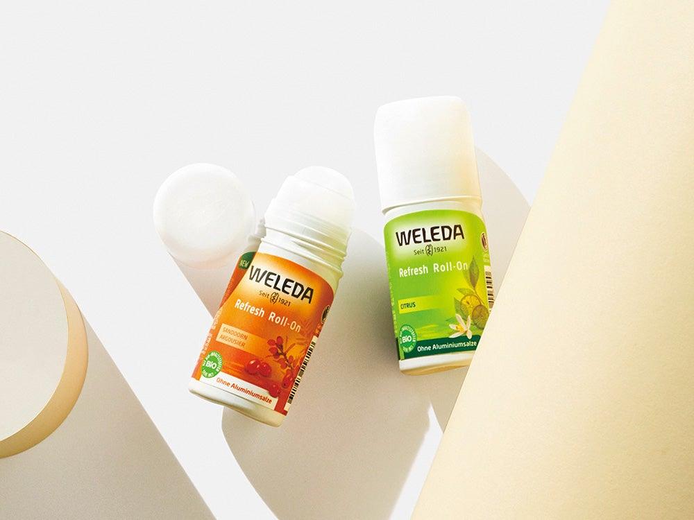 ヴェレダの制汗剤は天然精油成分配合。柑橘系のロールオン式で男子も使いやすい