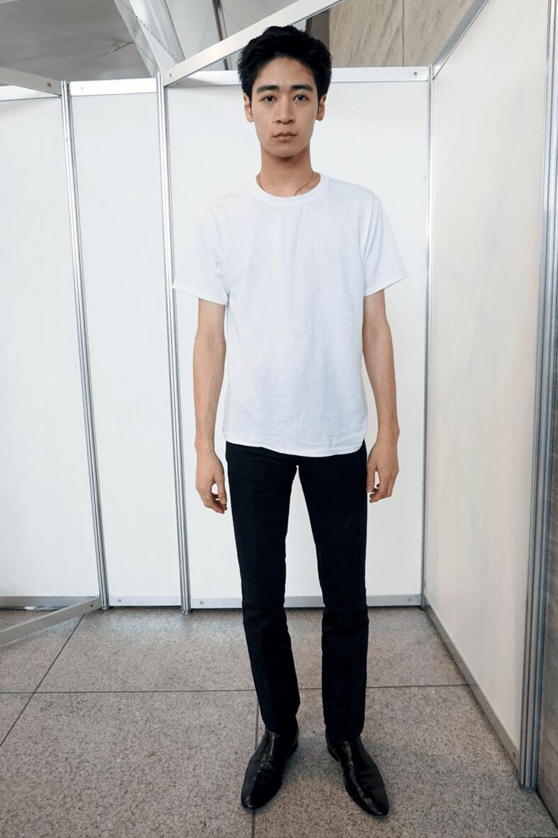 白T&ジーンズの潔いスタイルは、先輩リスペクト!