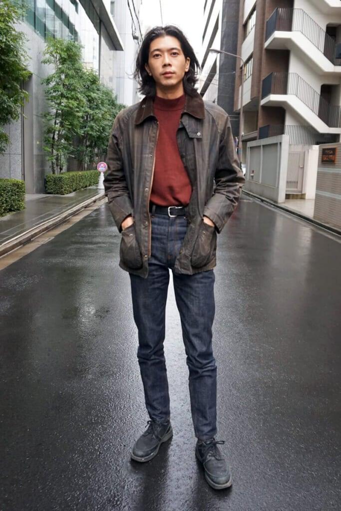 雨の日のアウターはオイルドクロスの「バブアー」!