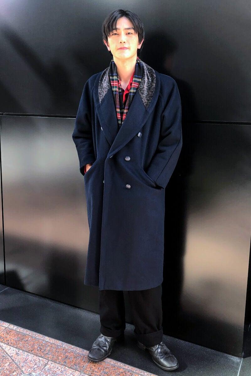 僕の私服では久しぶりのロングコートです!