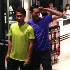 「アディダス」主催のランで、香川真司選手と走り(抜き去られ)ました。