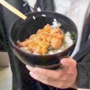 北海道のウニは、味が違う気がする…!