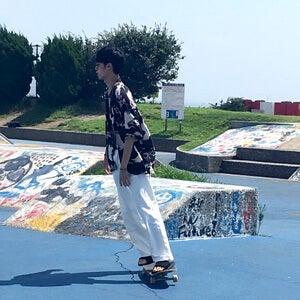 ひさびさのスケートパークで、ボードに乗ってきました!
