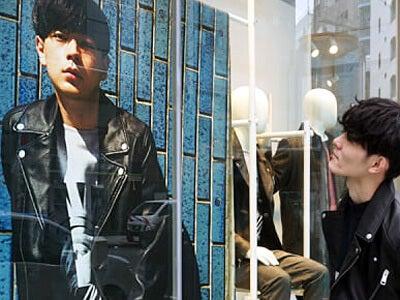 先輩の成田くんと、渋谷の「H&M」で会ってきました!