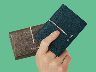 マルチストライプがさりげなく個性的!「ポール・スミス」の財布&バッグ