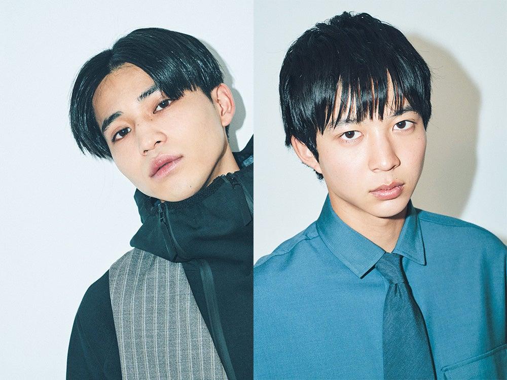 最強ヘアカタログBOOK・専属モデル中田圭祐のセンターパート、鈴木仁のマッシュ
