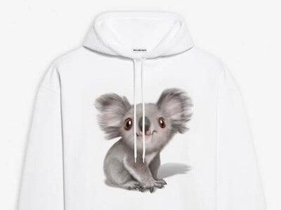コアラの保護をサポート! バレンシアガの限定Tシャツ&パーカ