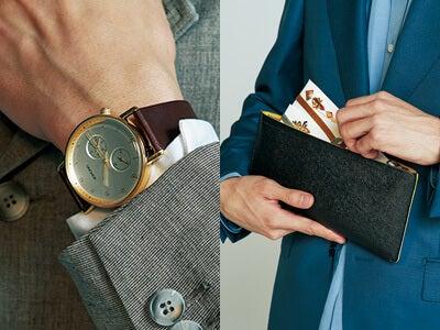時計、バッグ、財布。結婚式では小物もチェックされている!