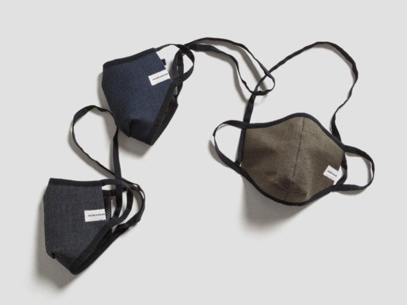 「マーカウェア」の新作マスクは首から下げられて涼しくておしゃれコーデにも!