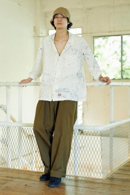 清原翔はクリーンな白シャツを主役にヨウジヤマモトのパンツで男らしさをプラス!