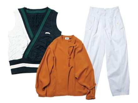 注目の新進デザイナーズブランドから、高感度でも着やすい新作アイテム3選