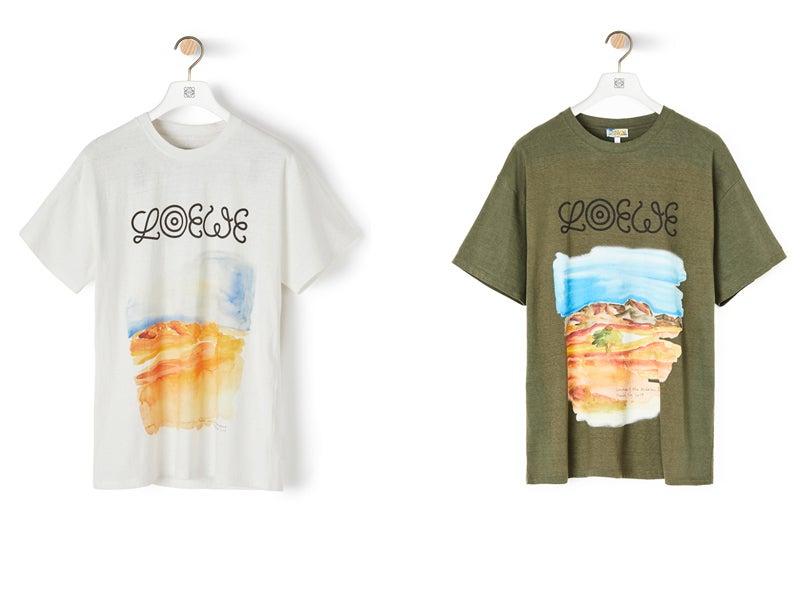 「ロエベ」の新作は旅先の風景を水彩画で描いたアートなTシャツ!