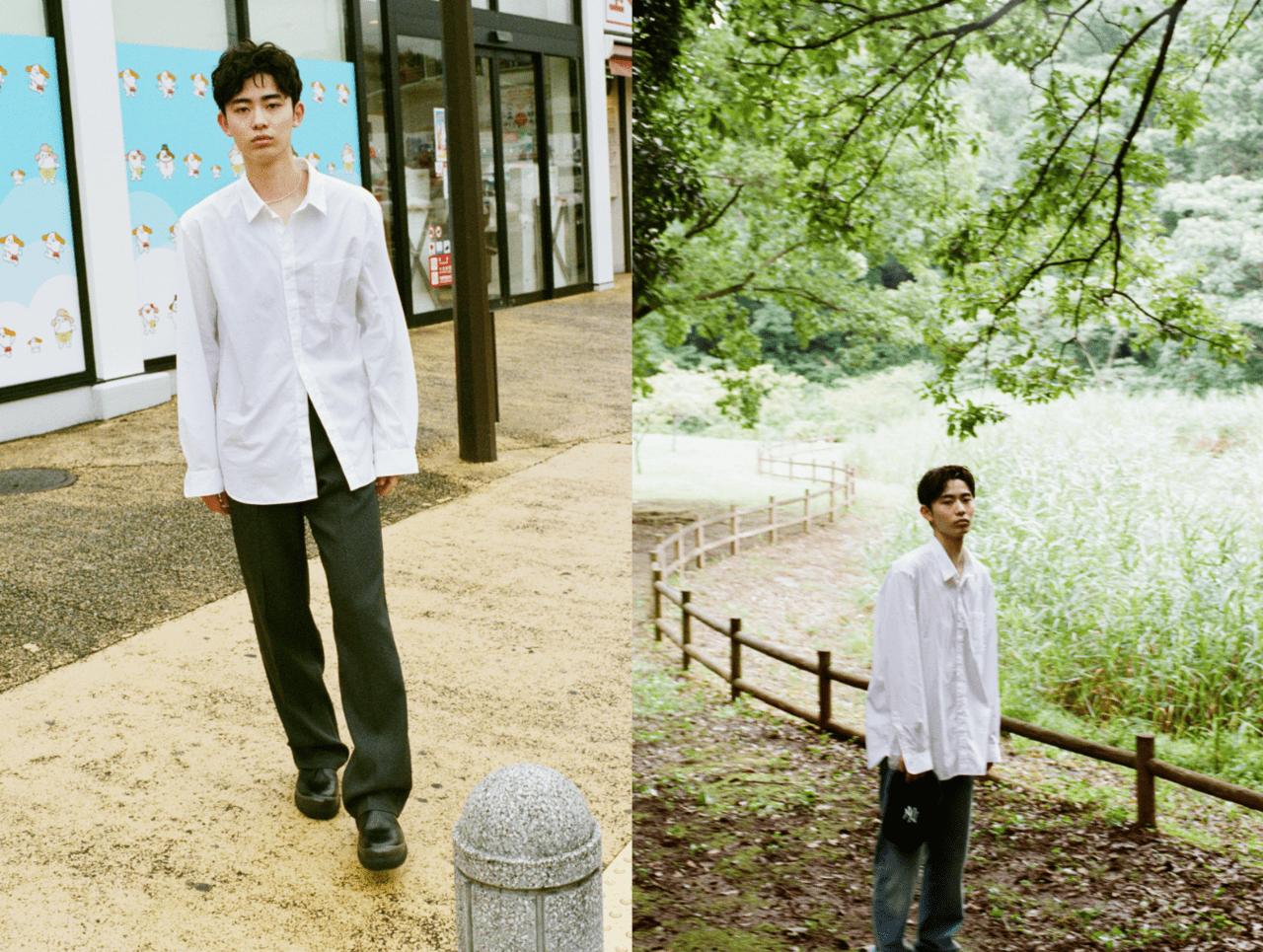 超定番服【無印良品の白シャツ】を、最大限今っぽく着る方法。
