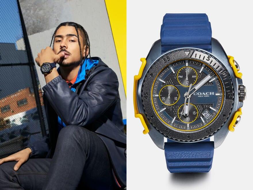コーチの新作時計はタフで実用的ながら、おしゃれなカラーリングが手元で映える!