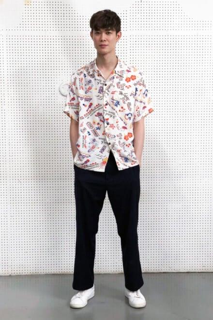 宮沢氷魚はビームスの柄シャツでハイテンションな夏に!