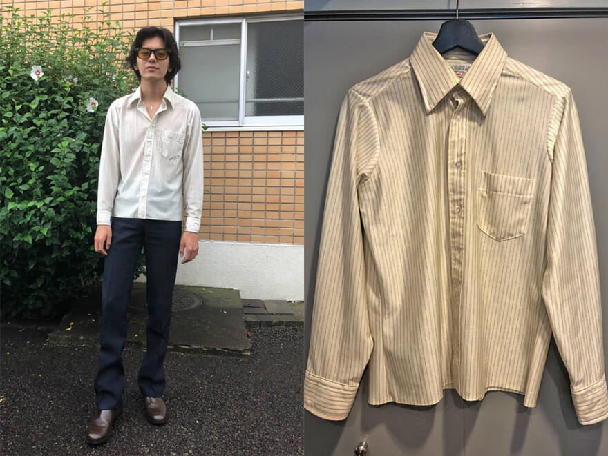 【おしゃれ男子の古着愛!】メンズノンノモデル井上翔太は音楽を感じるシャツを4000円で