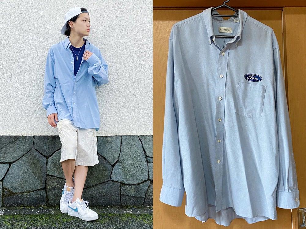 【おしゃれ男子の古着愛!】古着と言えば高円寺。トレンドのビッグシャツが6000円で大正解!