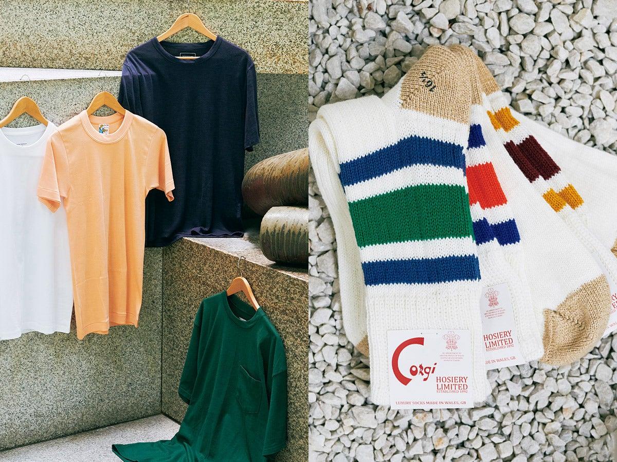 インナーTシャツ、足元映えソックス…夏コーデの「スキマ」に使える名品7選