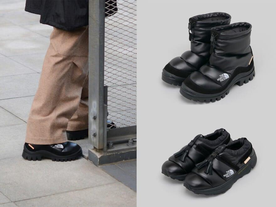 ザ・ノース・フェイスとエンダースキーマ初コラボはダウンをレザーで包んだ靴!