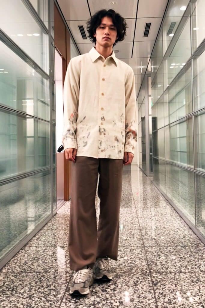 オーラリーのペイントシャツと、合わせやすすぎるマルニのパンツで完成!