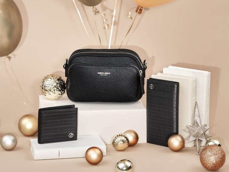 アクセ、革小物、ポーチ、etc…クリスマスギフト&自分へのご褒美に最適!バリエーション豊富なアルマーニの小物たち