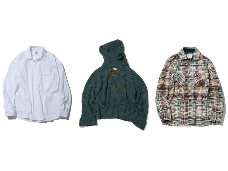 【編集部PICKS】新進ブランドやコスパウールシャツなど、今気になるトップスたち  今月のニュースなアイテム⑤