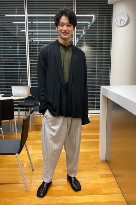 イッセイ ミヤケのパンツを和テイストなコーデに生かす!