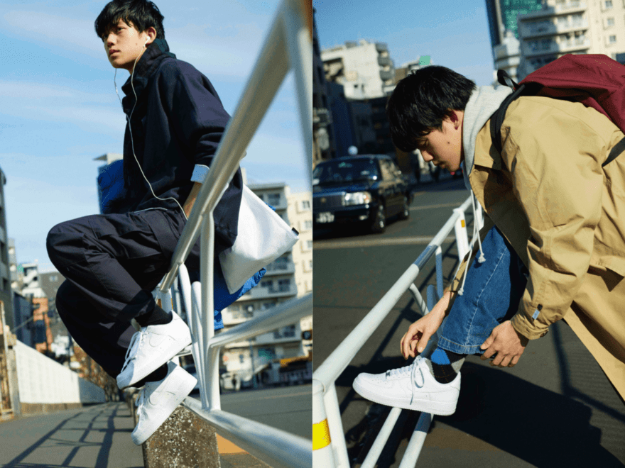 超定番スニーカー【ナイキのエア   フォース 1】を、最大限今っぽく履く方法。