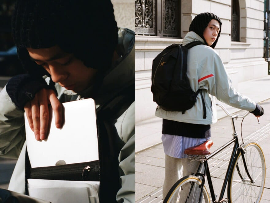 アークテリクスのバックパックがコンパクトでちょうどいい!【中田撮ファッション! #008】