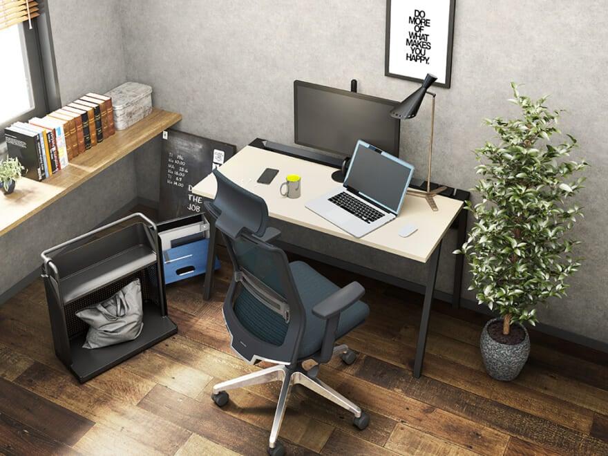 在宅勤務環境を手軽にアップデート!奥まで広々使えるコクヨのシンプルデスク「LEAN」