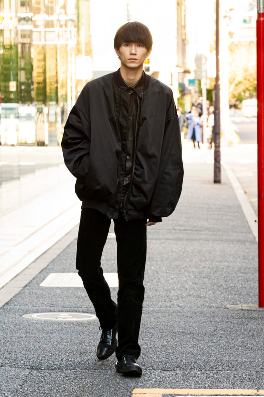 ラッド ミュージシャンのボリュームアウターは細身パンツに合わせてメリハリを!