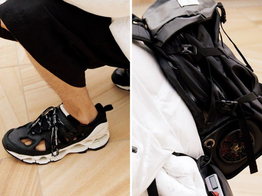 【ビューティフルピープル×ミズノ】美と機能性の注目コラボ、バックパックとスニーカー