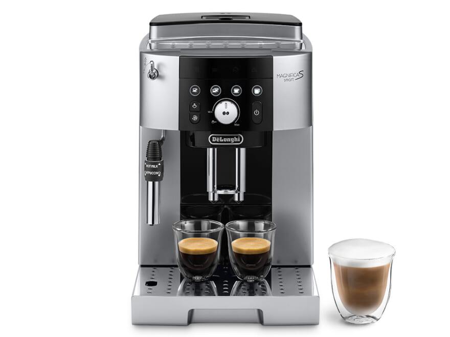 デロンギ マグニフィカS スマート 全自動コーヒーマシン 型番:ECAM25023SB 発売日:2021年3月4日(木) 価格:オープン価格