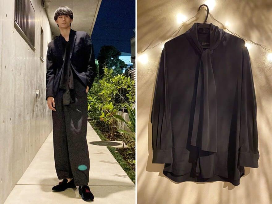 【回しの達人・自慢のヘビロテ服】メンズノンノモデル野村大貴のフロントに動きが出せる黒シャツ