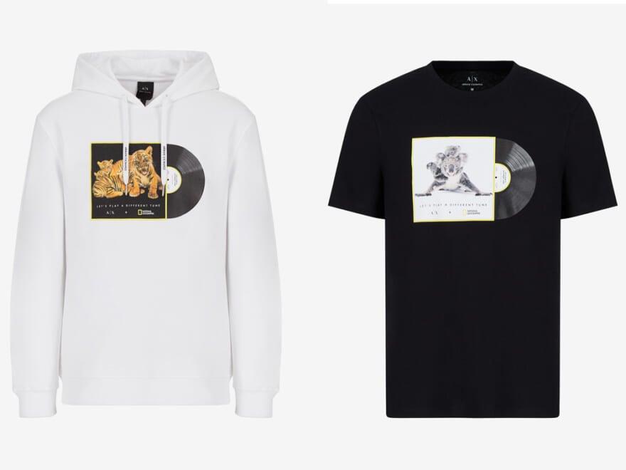 【A|X アルマーニ  エクスチェンジがサステナブルなコラボ】デイリーに着られるTシャツ&パーカー