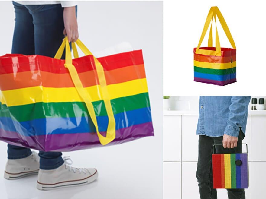買って応援、使って応援。イケアから多様性を象徴するレインボーカラーのアイテムが登場!