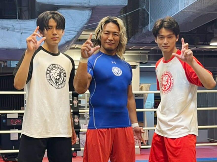 新日本プロレス・棚橋選手の熱血指導を受けました! 筋肉、すごかった…[中川大輔ブログ]