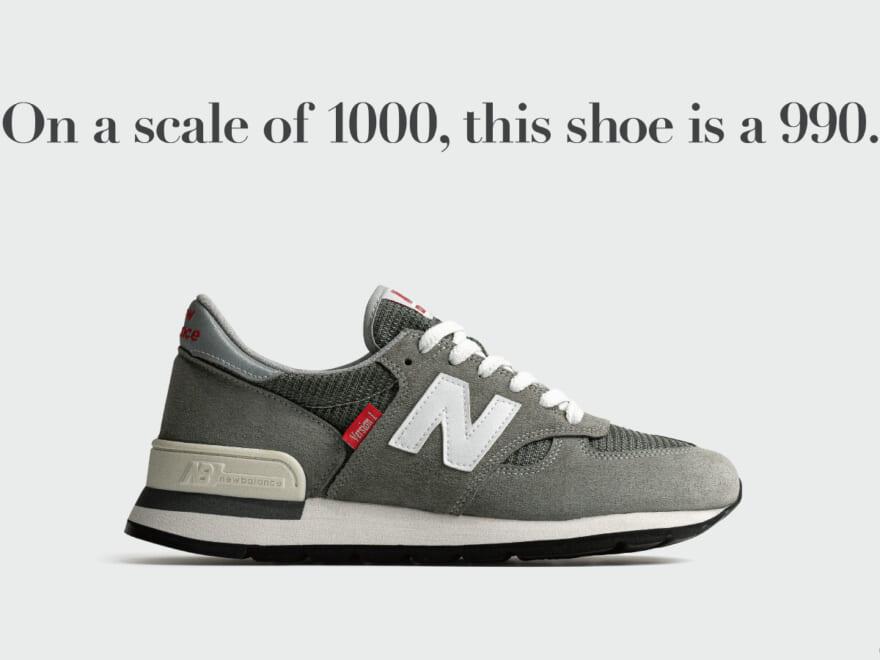 【ニューバランス】Made in U.S.A.「990」初代モデルが復活。40周年を記念した特別仕様に!