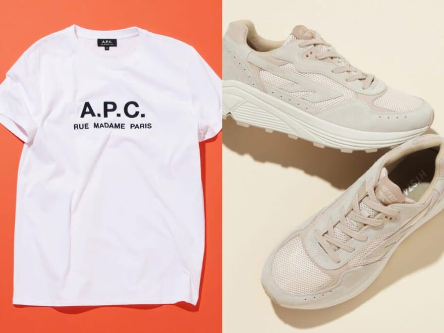 A.P.C.のロゴTにトーガのシャツetc.半袖&ショーツは今! おしゃれ男子が買ったもの6選/6月後編