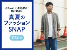 ド定番な白T×デニムの更新テク【真夏のファッションSNAP】
