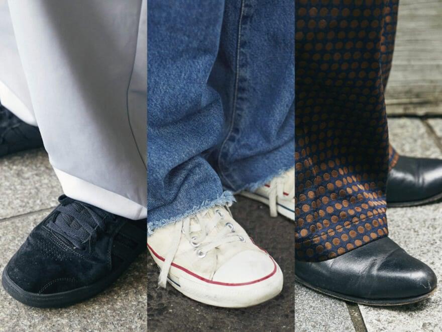 【おしゃれな人の足元事情】SNAPでわかった、夏にうってつけの履きこなしテク [古着、コンバース、エンダースキーマetc…]