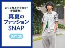ブラック コム デ ギャルソンのシャツをトレンドのメッシュと【真夏のファッションSNAP】
