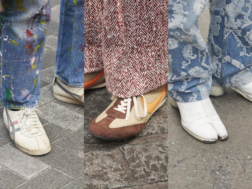 【おしゃれな人の足元事情】SNAPでわかった、夏から秋をつなぐ履きこなしテク [ナイキ、アディダス、メゾン マルジェラetc…]
