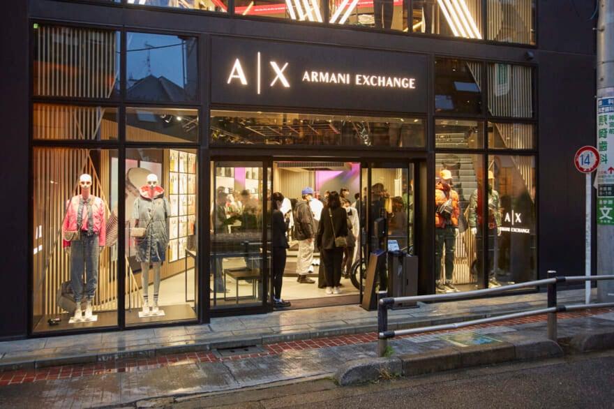 世界初! A|X アルマーニ エクスチェンジの新店舗が、原宿・キャットストリートにオープン