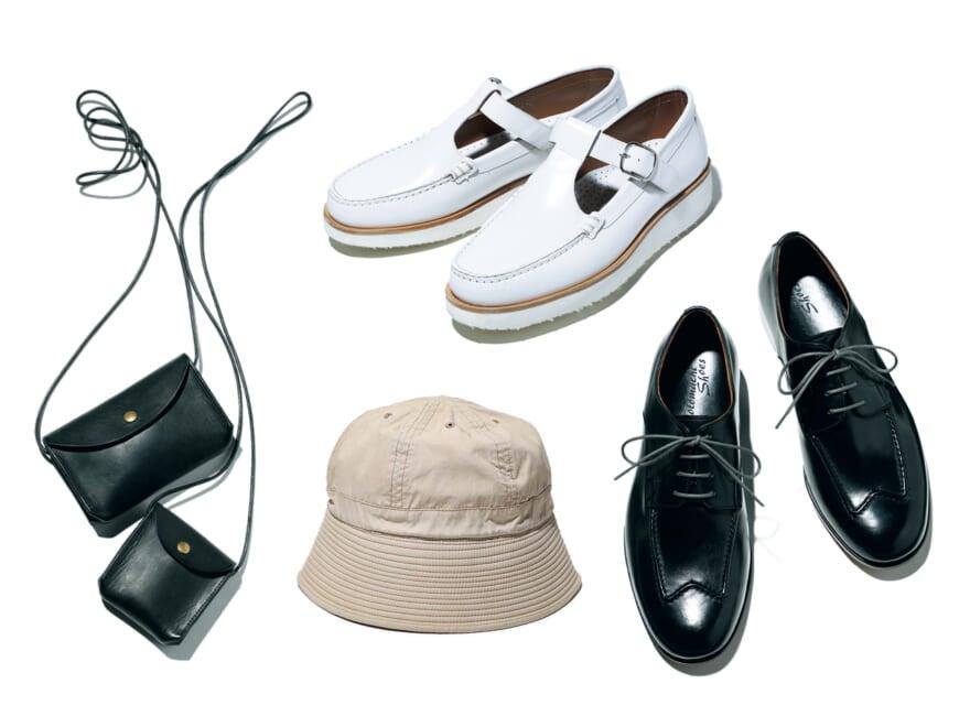 こだわりが光るモトマチシューズ、夏に履きたい白のモカシン。ニュースな小物4選【編集部PICKS】